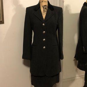 Ralph Lauren  Wool Suit with Velvet Collar